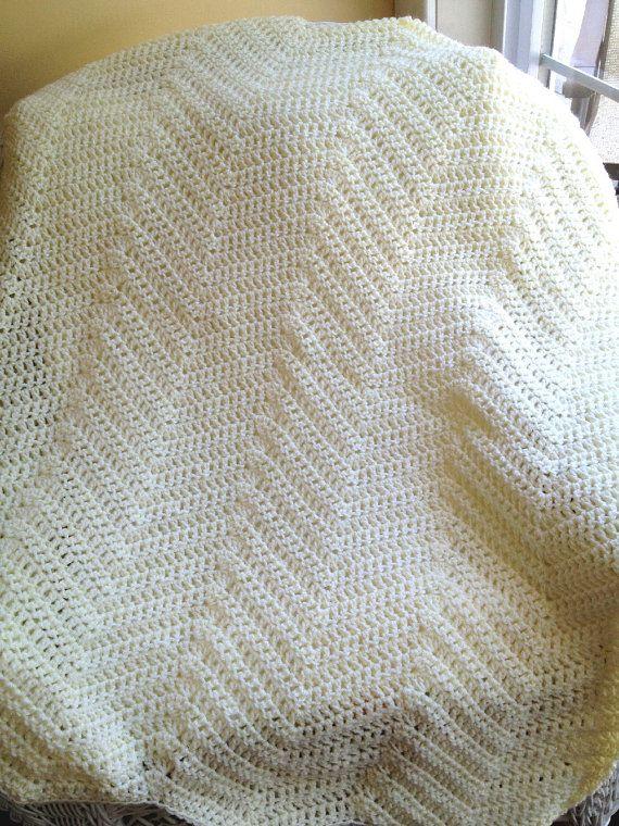 Crochet Zig Zag Baby Blanket : chevron ripple zig zag baby blanket afghan by JDCrochetCreations, $75 ...