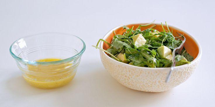 ... your new go-to salad dressing: sharp, tangy garlic-Dijon vinaigrette