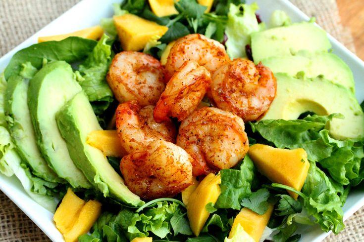 Mango Avocado Shrimp Salad with Toasted Almonds