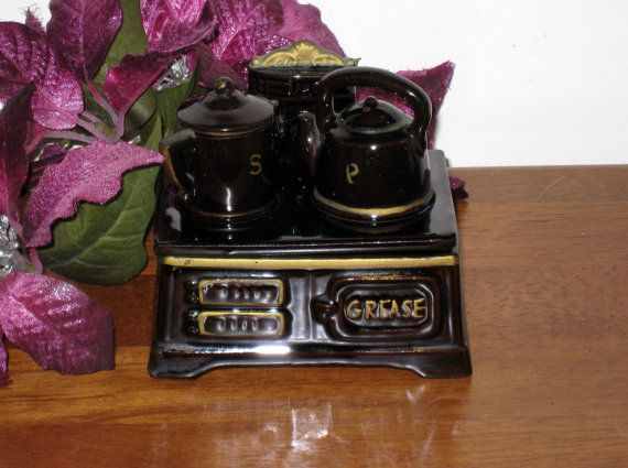 Vintage TILSO Brown Stove / Tea Kettle Salt by CookieGrandma60, $22.50