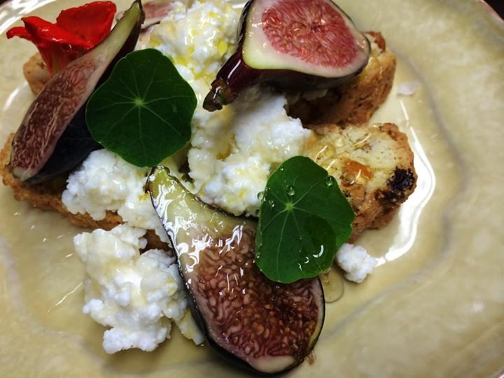 Pistachio biscotti, ricotta, figs, marmont's own honey & hillside ...