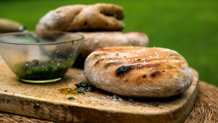 Stuffed Grilled Flatbread by Melissa Clark - makes 8 large flatbreads ...