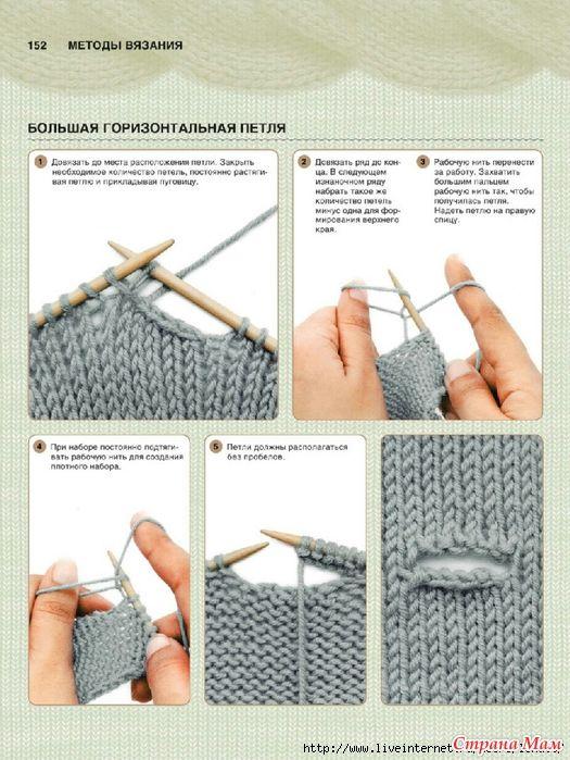 Как сделать петли в вязании спицами 59