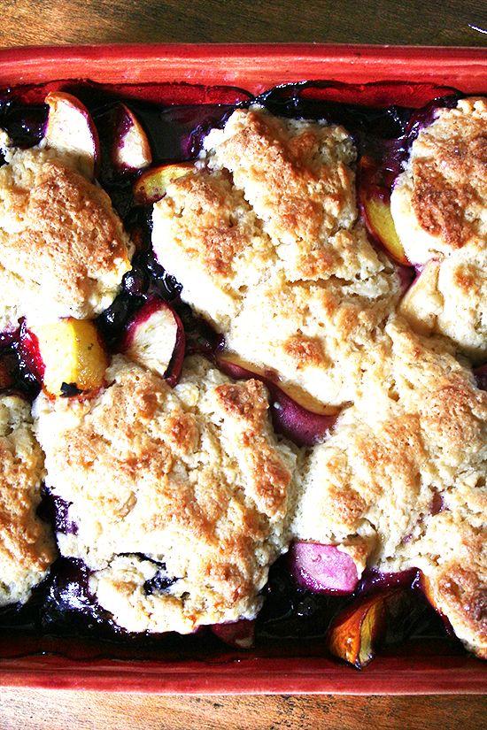 Peach Blueberry Cobbler Recipe — Dishmaps