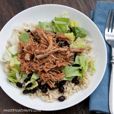 Slow Cooker Sweet Barbacoa Pork {lightened up!}