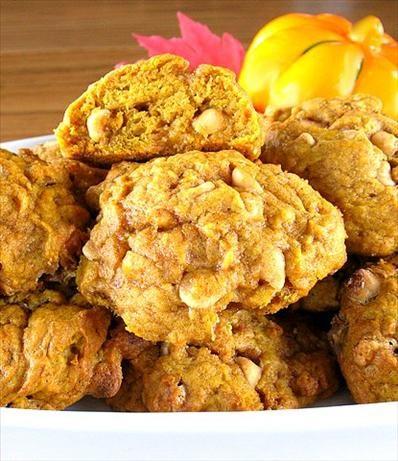 Pumpkin Cookies with Butterscotch Chips