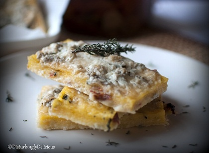 Crispy Polenta with Herbs, Sun-dried Tomatoes and Gorgonzola ...