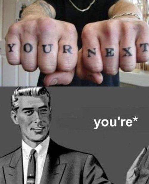 you're