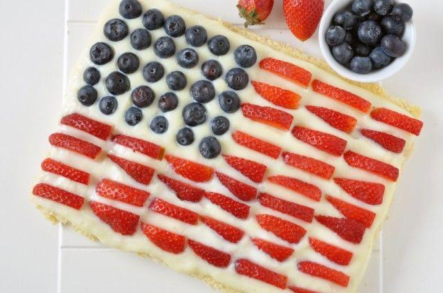 Flag Fruit Pizza | Pizza - Sweet | Pinterest
