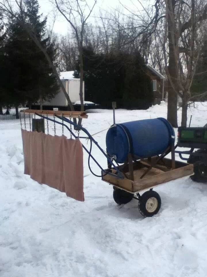 Backyard Rink Zamboni : little homemade zamboni for the ODR What a Beauty! #GONGSHOW