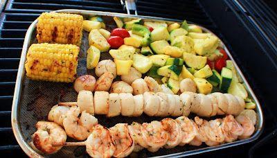 ... Cuisine: Grilled Citrus Scallop and Shrimp Skewers Vegetable Medley