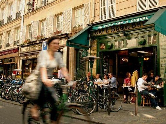 Biker in Paris
