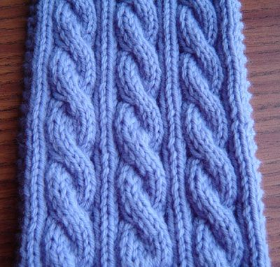Reversible cables - free pattern Yarn arts/knit/scarves Pinterest