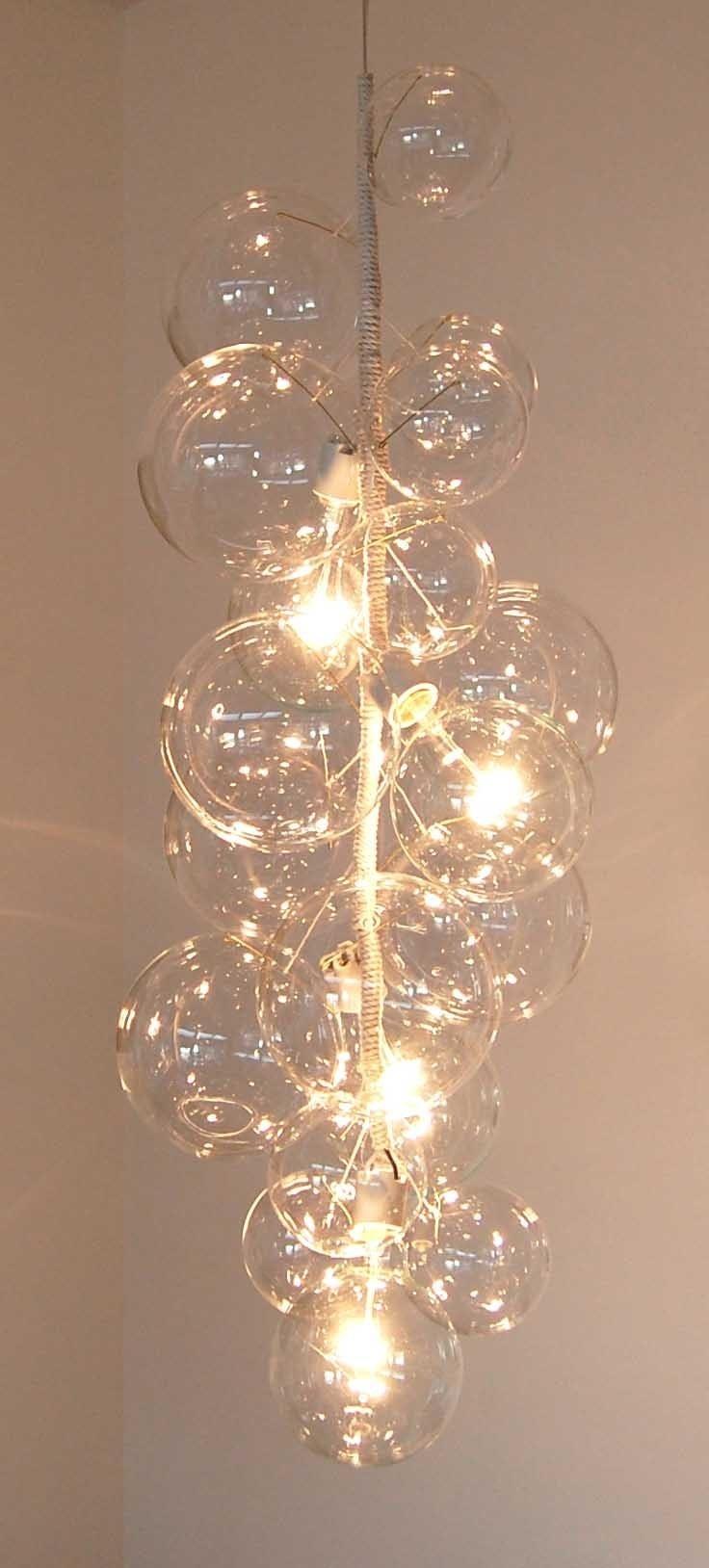 PELLE bubble chandelier from Etsy design