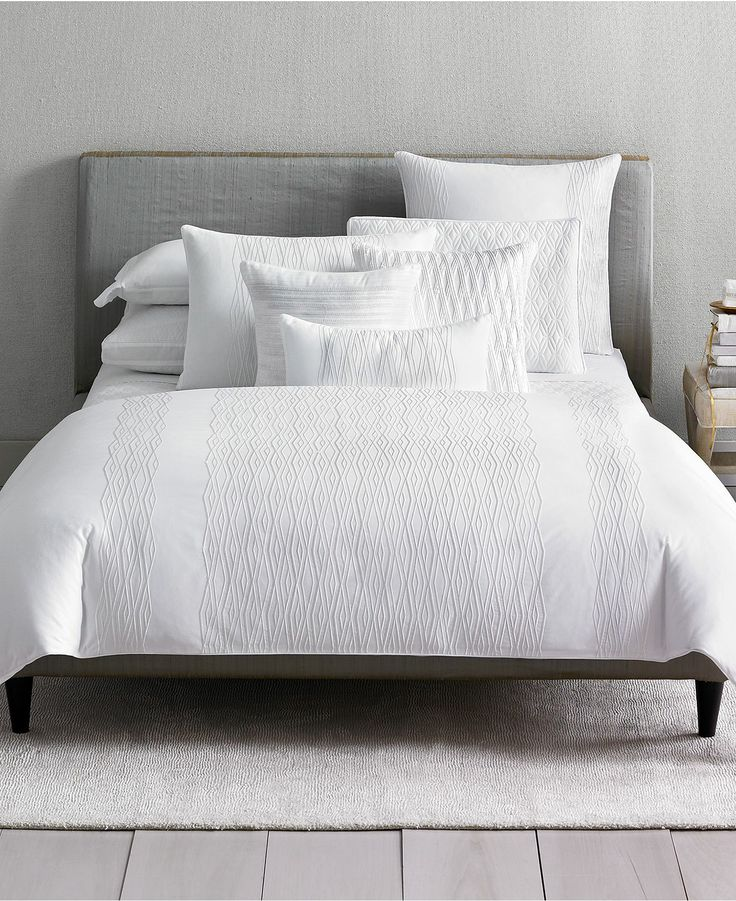 Closeout Hotel Collection Embroidered Diamonds Bedding