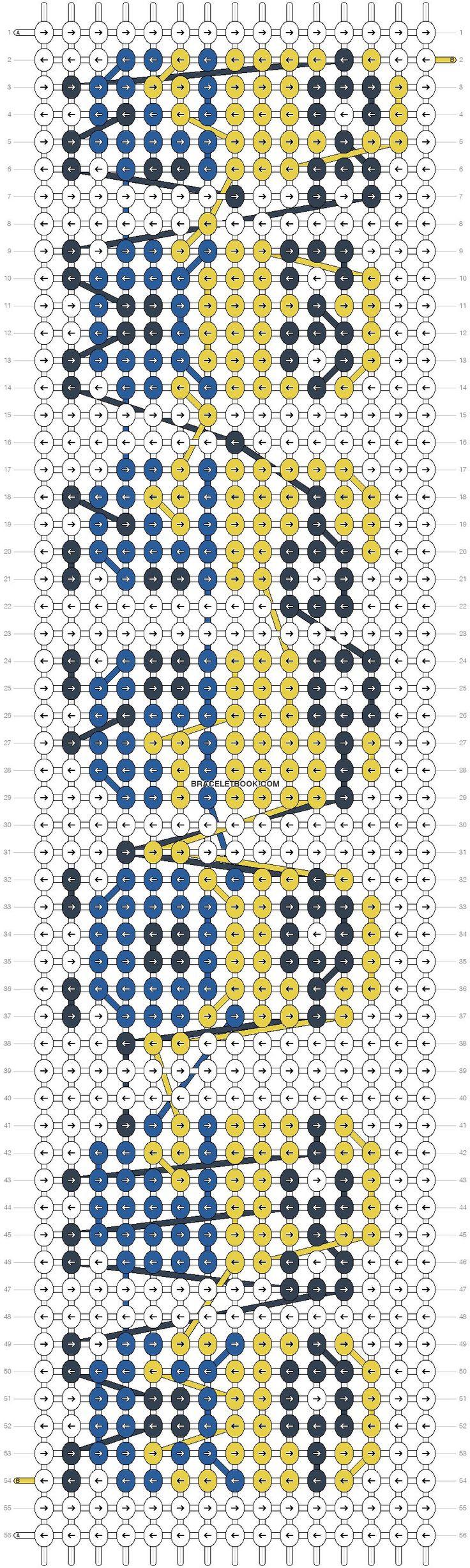 Имена схемы для браслетов из бисера