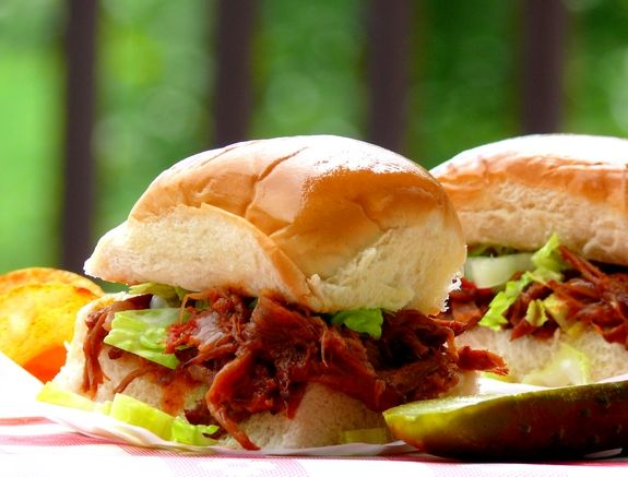 BBQ Short-Rib Sliders with Whiskey-Bacon Barbecue Sauce Recipe from ...
