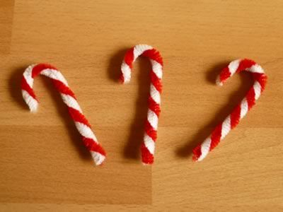 Pipe Cleaner Ornaments Candy Canes Animals Arts amp Crafts