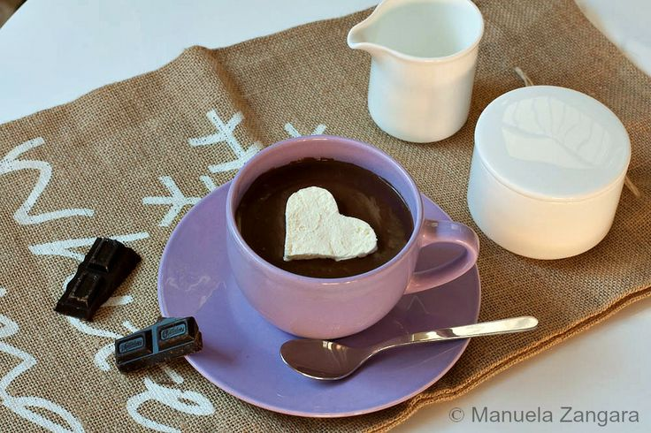 Italian style Hot Chocolate with Whipped Cream http://www.manusmenu ...