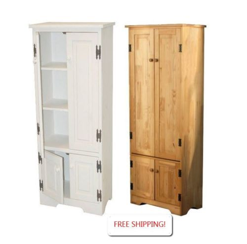 Cabinet storage pantry extra tall white or pine for Extra kitchen storage
