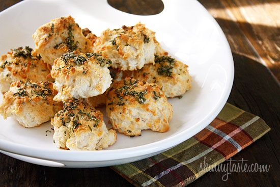 Easy Rosemary Garlic Parmesan Biscuits | Skinnytaste --> need Heart ...