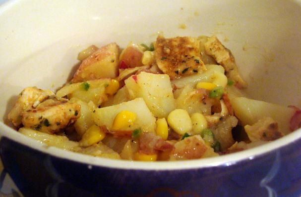 Grilled Chicken & Corn Red Potato Salad With Jalapeno Vinaigrette # ...