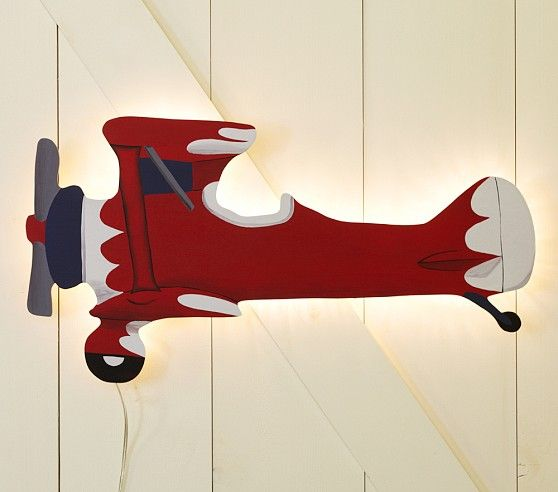 Wall Mounted Lamps Pottery Barn : Airplane Wall Lamp Pottery Barn Kids MY OWN Pinterest