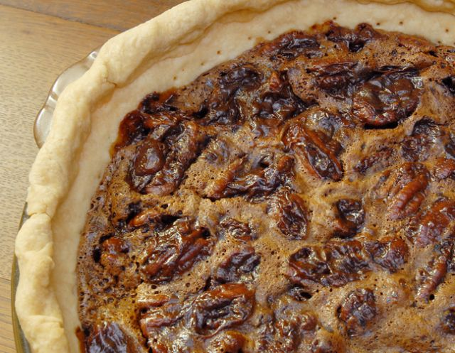 Chocolate bourbon pecan pie | The Domestic Goddess | Pinterest