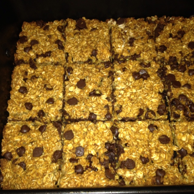 Homemade pumpkin chocolate chip granola bars...recipe from ...