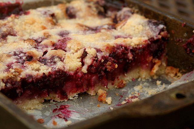 blackberry pie bars 8 by crumblycookie, via Flickr