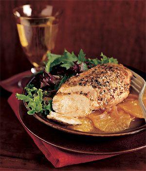 Spiced Chicken with Oranges Recipe at Epicurious.com