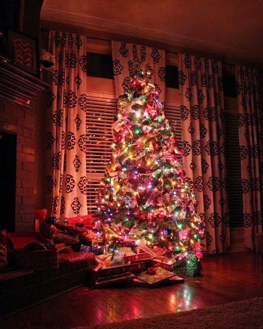 Colorful Christmas tree-