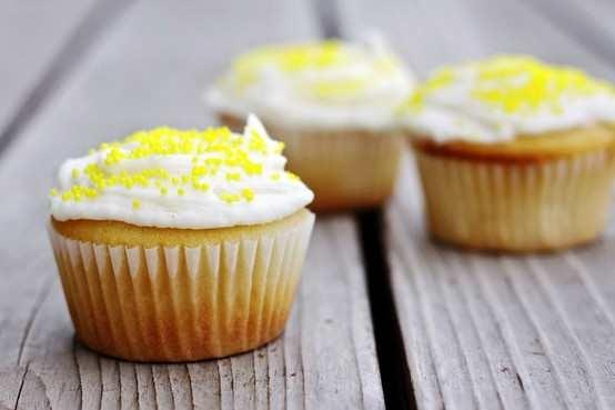 Lemon Cupcakes With Lemon Whipped Cream Frosting Recipe — Dishmaps