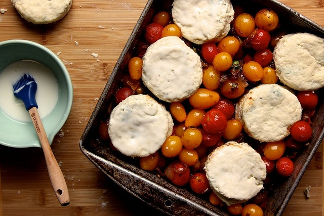Tomato Cobbler with Blue Cheese Biscuits (make with low fat biscuits ...
