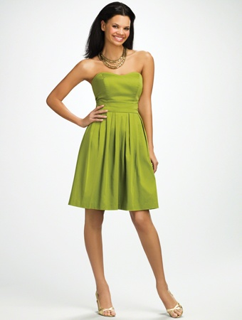 Tonya 39 s bridesmaid dress in green apple wedding for Apple green dress for wedding