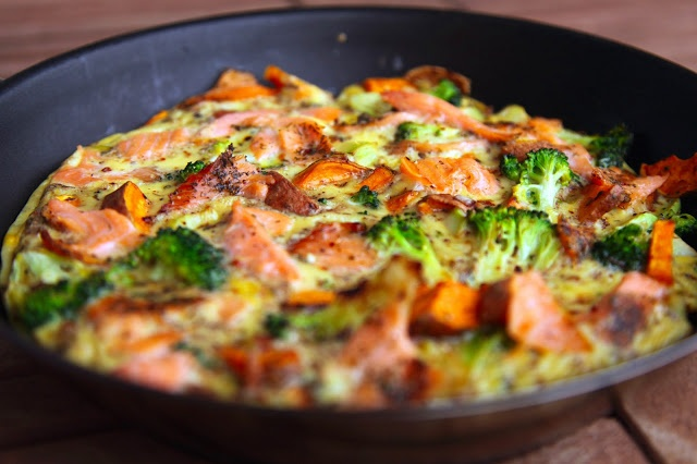 ... onion pesto salmon and asparagus frittata salmon sausage frittata