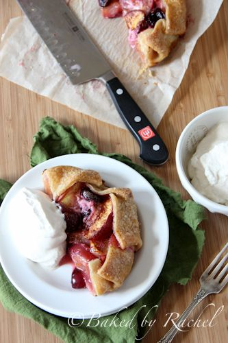 Skillet Cherry Peach Pies - Baked by Rachel