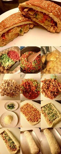 BUFFALO CHICKEN STROMBOLI | appetizers | Pinterest
