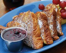 FRENCH TOAST WITH MAPLE CRANBERRY COMPOTE