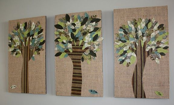 fabric handprint trees