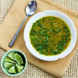 Indian-Spiced Slow Cooker Red Lentil Soup Recipe with Spinach and Coc ...