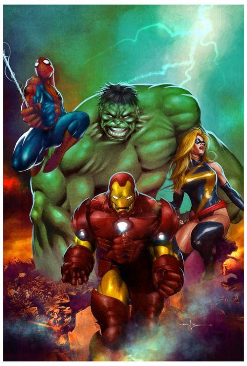 Marvel heroes by valzonline