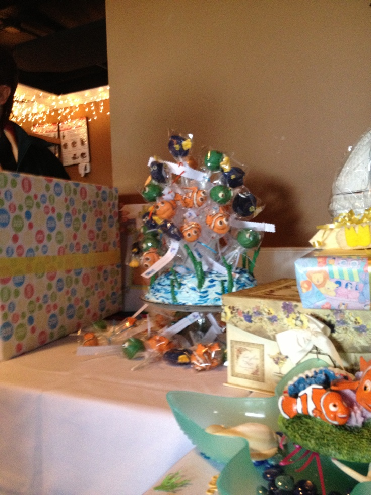 cake pop favors at my sister in law 39 s baby shower finding nemo theme