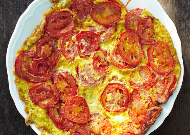 Tomato Frittata - Try this as a side dish, vegetarian main course, or ...