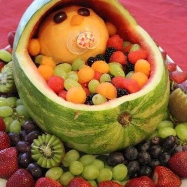 baby shower fruit bowl food pinterest