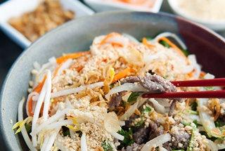 Vietnamese Bun Bo Xao Beef Noodle Salad #recipe