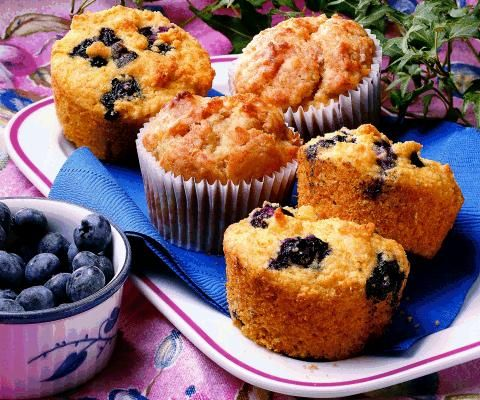 Blueberry Corn Muffins Recipe | Recipe of the Day | Pinterest