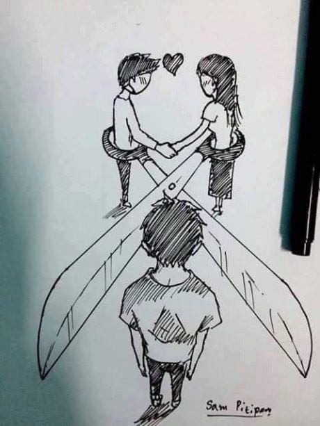 Безответная любовь рисунки карандашом для