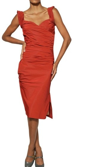 Vivienne Westwood Gathered Techno Taffeta Dress
