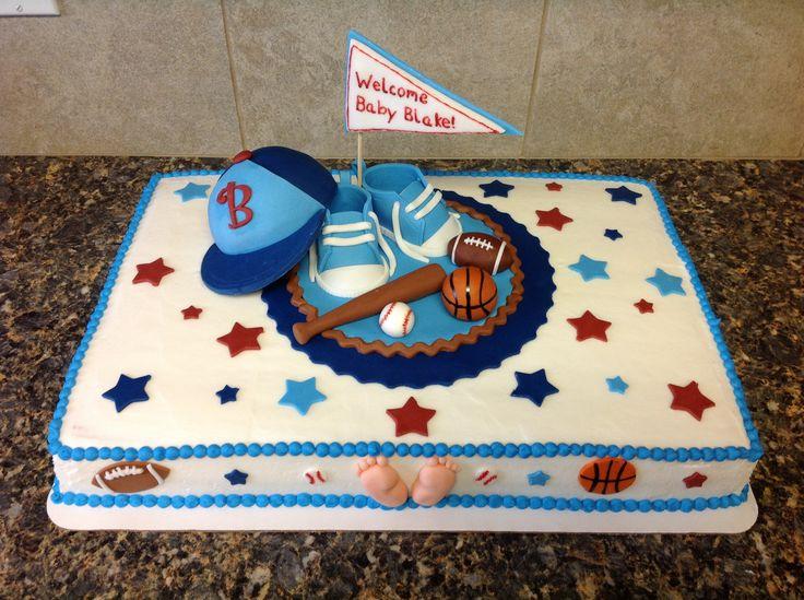 baby shower boy cakes sports theme sports theme baby shower cake